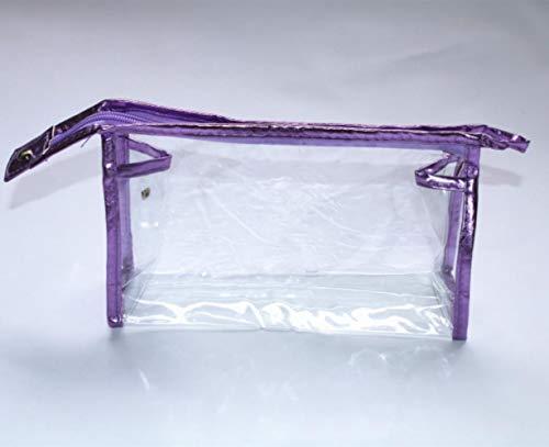 Opak Sac à cosmétiques Transparent Transparent Sac de Lavage Sac de Rangement portatif pour Femme Sac de Rangement de Voyage Transparent, Violet