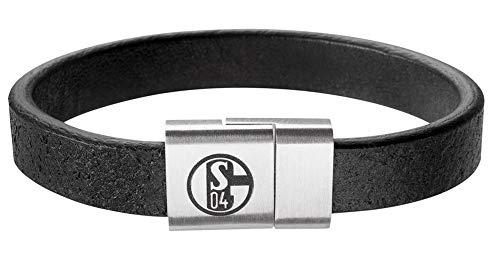FC Schalke 04 Armband Leder schwarz
