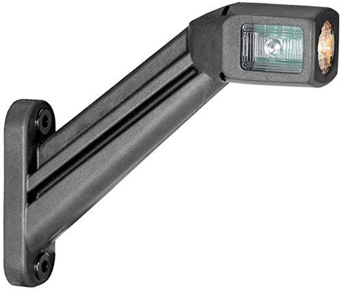 HELLA 2XS 011 744-041 LED Gummiarm-Umrissleuchte mit integrierter Seitenmarkierungsleuchte, vertikal, Flachsteckhülse 6,3 mm, rechts, 3.000 mm Leitung