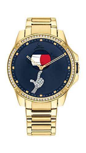 Tommy Hilfiger Tommy Jeans Unisex Space Jam Quartz Bracelet Watch Color: Gold Plated (Model: 1791874)