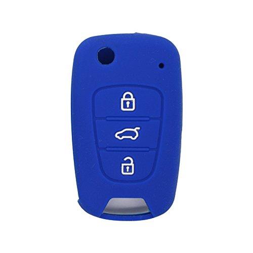 BROVACS Silicone Cover Protector Case Skin Jacket fit for HYUNDAI KIA 3 Button Flip Remote Key Fob CV9100 Black