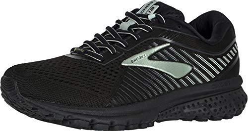Brooks Women's Ghost 12 GTX Running Shoes, Black (Black/Ebony/Aqua 010), 5 UK