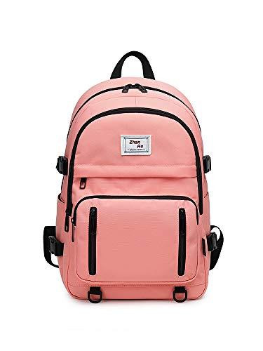 YANAIER School Backpacks for Teens Girls Waterproof 15.6' Laptop Backpack Casual College Bookbags Daypack Pink