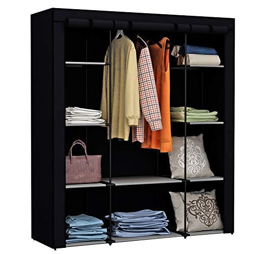 Homebi Clothes Closet Portable Wardrobe Durable Clothes Storage Organizer Non-Woven Fabric Cloth...