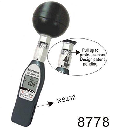SSEYL AZ-8778 Black Ball Thermometer Tester Handheld Heat Index WBGT Meter AZ8778