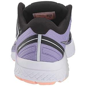 Saucony Women's Guide ISO 2 Running Shoe, Black/Purple, 10 M US