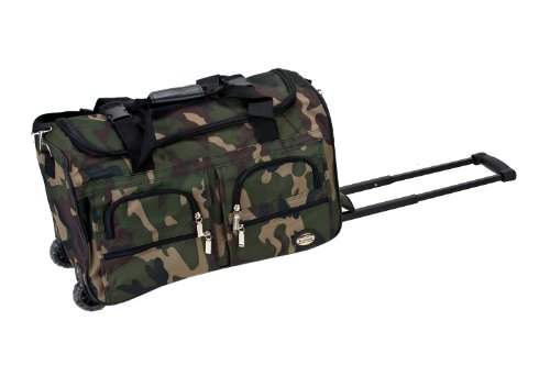 Rockland Rolling Duffel Bag, Camouflage, 22-Inch