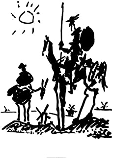 NA Don Quixote by Pablo Picasso Art Print Poster_24 x 36 Inches (60 x 90 cm)