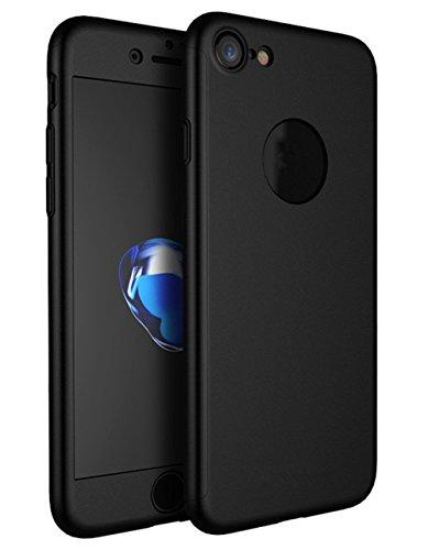 Demarkt Teléfono Móvil 360 Grados Todo Incluido Pc Funda para Teléfono Móvil Protectora Caso de Plástico Cover Case 1PCS + 1PCS Película Templada