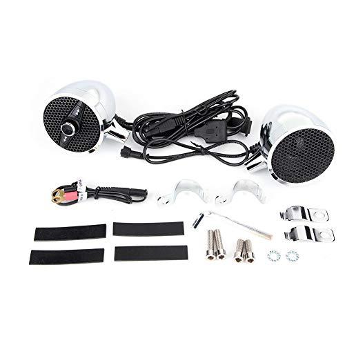 Altavoz de la motocicleta, Altavoz Bluetooth de audio de la motocicleta Altavoz Bluetooth impermeable de la motocicleta 7/8-1.25in Manillar Radio de audio FM