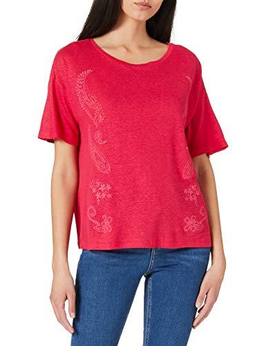 Desigual TS_Clementine Camiseta, Rojo, XL para Mujer