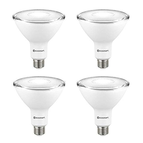 EcoSmart 90-Watt Equivalent PAR38 Non-Dimmable Flood LED Light Bulb Daylight (4-Pack)