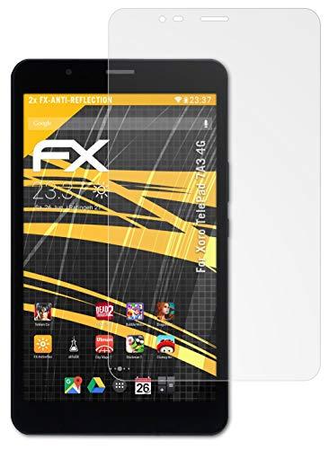 atFolix Panzerfolie kompatibel mit Xoro TelePad 7A3 4G Schutzfolie, entspiegelnde & stoßdämpfende FX Folie (2X)