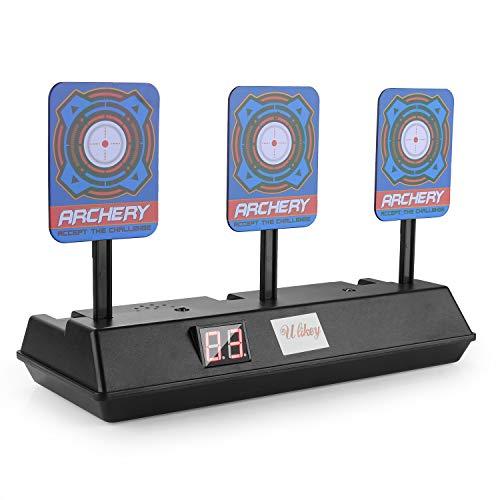 Herefun Zielscheibe für Nerf, Auto Reset Elektro-Schießscheiben, Shooting Target Elektrische Ziel Toy, Automatische Wiederherstellung Zubehör, Spielzeug mit Soundeffekte und Spiellicht