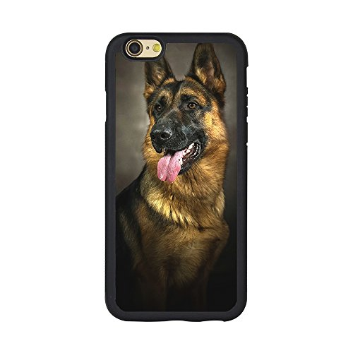Andenley Design German Shepherd Dog Phone Case,Soft TPU Rubber Black Protective Case for iPhone 5/5s/SE, 6/6s, 6P,7/8,7P/8P (iPhone 6/6s)