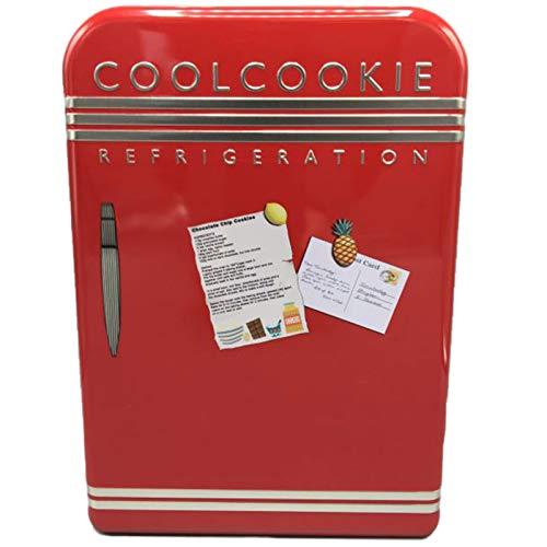 Coolcookie: Stylische Geschenkdose aus Blech in Form eines Retro-Kühlschranks