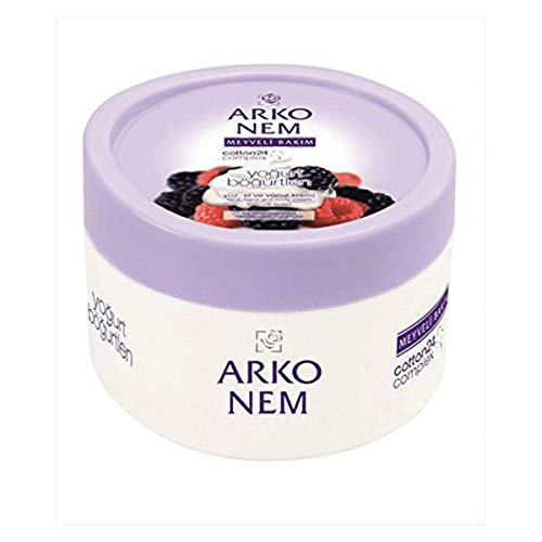 Arko Nem Yoghurt and Blackberry Cream Face Hand and Body Cream, 300 Gram