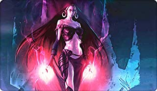 Liliana of The Dark Realms Board Cards Games Play Mat Table pad Size 60x35 cm Mousepad playmats with Waterproof Storage Bag for MTG ygo CCG TCG yugioh Pokemon Magic The Gathering Cards Game