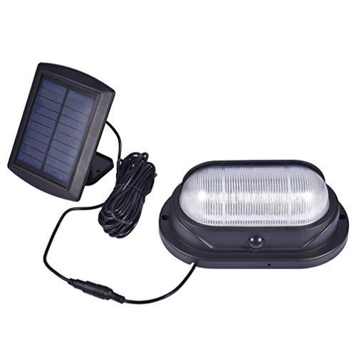 Uonlytech Solartürlicht Außenbewegungssensor Leuchtet Wasserdichte Körpersensor-Wandleuchte für Außenhof Straßengarten Außenzubehör (Mit 5 M Verlängerungskabel)