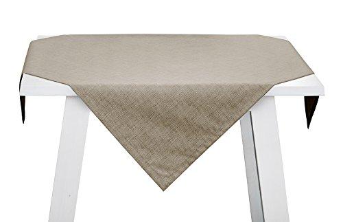 Pichler Pinto Tischwäsche abwaschbar Mitteldecke 85x85cm Kiesel