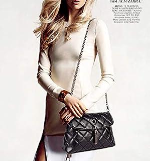 Stylish Lozenge PU shoulder bag packet small handbag tassel cross body bag for women NB15 black