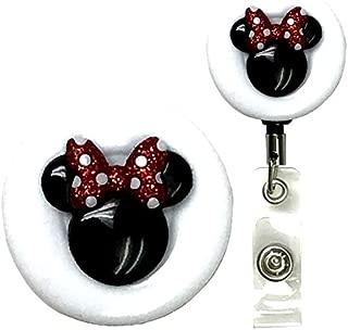 Mouse Ears Symbol Real Charming Premium Heavy Duty Belt Clip Metal ID Badge Holder Badge Reel (Minn HD)