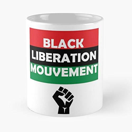 Taza de café con texto en inglés 'Garvey Jamaica History Matter Black Marcus African African Lives Mejor Regalo