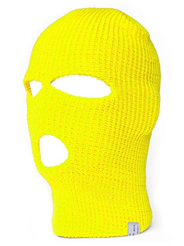 TopHeadwear - Pasamontañas para hombre amarillo fluorescente Talla única