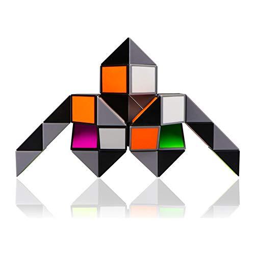 iLink Magische Schlange Knobelspiele-Kindergeburtstag Magic Snake Puzzle-48 Blöcke Magische Schlange Spielzeug für Kinder und Erwachsene-Kindergeburtstag Gastgeschenke(Regenbogen)