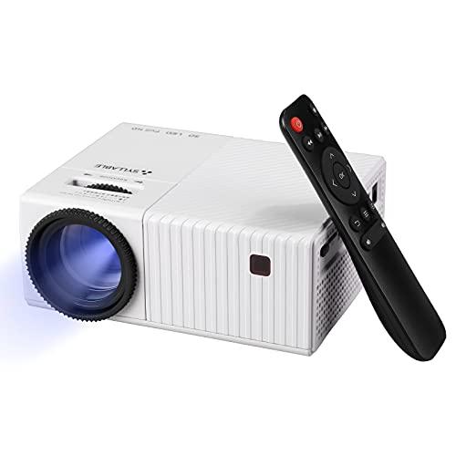 SYLLABLE - Mini videoproiettore 4K UHD, supporto nativo 1080P Full HD, compatibile con TV Stick, HDMI, SD, AV, VGA, USB, X-Box, PS4