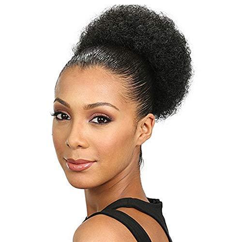 Perücke Afro Curly Wave Haarspange In Pferdeschwanz Short Kinky Curly Wrap Synthetische Kordelzug Puff Pferdeschwanz Haarverlängerung Perücke für Frauen oder Kinder (L)