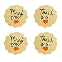 1000pcs / lotレッドハートデザインギフトケーキベーキングDIYヴィンテージシールラベルステッカーありがとうございます