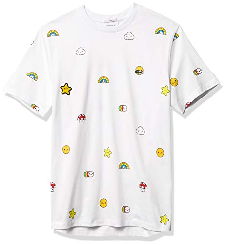 Lacoste Men's CROCOSERIES Friends with You Short Sleeve T-Shirt, White, L