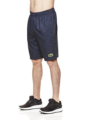 TapouT Herren Performance Polyester Workout Gym & Running Shorts mit Taschen – 25,4 cm Innennaht -  grau -  Klein