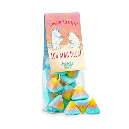 Einhorn-Leckerlies, ich mag Dich! Süße Fruchtgummi-Pyramiden, tolles Geschenk für Einhorn-Freunde