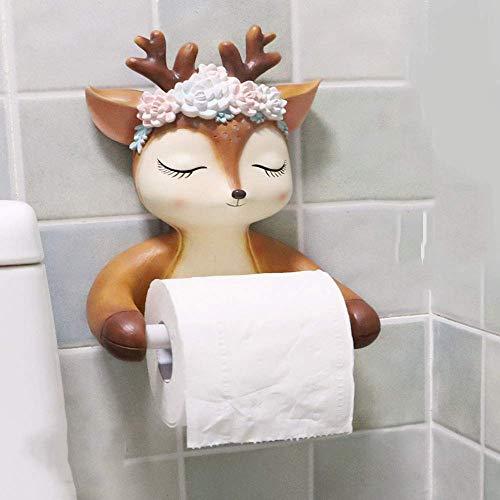 Rollo de Papel higiénico Estante Colgante Creativo Tipo punzón Libre Caja de Toallas de Papel higiénico Soporte de Papel higiénico