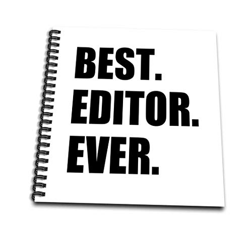3dRose db_179777_2 Best Editor Ever Fun Job Pride Gift for Worlds Greatest Editing Work Memory Book, 12 by 12-Inch