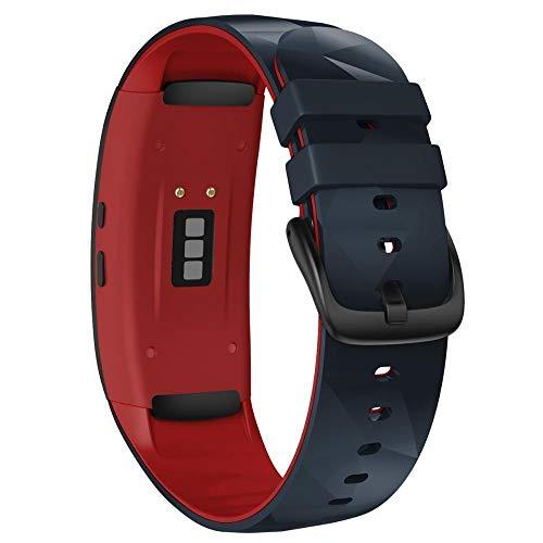 Correa Reloj Compatible para Gear Fit 2 Pro Correa Silicone Fitness Watch Band Correa de Reloj (Band Color : Stone Red)