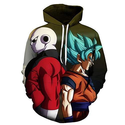 Nicoole Pulls À Capuchon 3D Dragon Ball Z À Capuche Goku Hoodies Pullovers Hommes/Femmes À Capuche Cordon Unisexe Hoodie, M