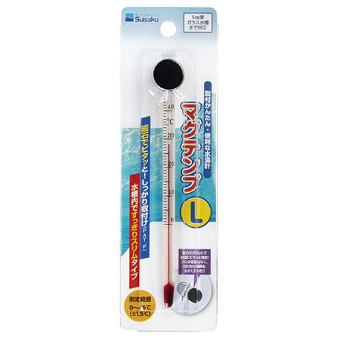 Suisaku Magnetic Glass Thermometer L (L)