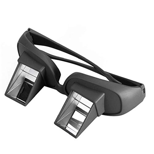 HD Bed Prism Spectacles Horizontal Lazy Creative Periscope View Glasses for Reading Regular Glasses Black Bring Heartbeat