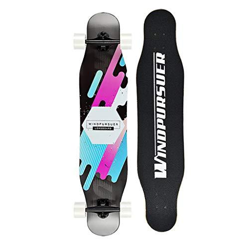 46-Zoll-Freestyle-Skateboard Tanzen Longboard Komplett für Kinder Jungen Mädchen Jugendliche Anfänger Lernen, üben und Landen Tricks