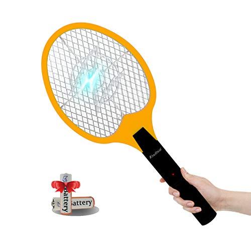 Raqueta Matamoscas Electrica,3000V antimosquitos eléctrica Mata Mosquitos para moscas y otros insectos voladores