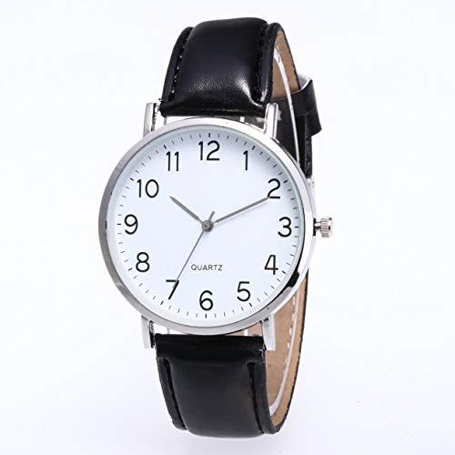 cottonlilac ZLF0429-F1 Hot Fashion Women Men Leather Band Reloj de Pulsera analógico de Cuarzo Luxury New-Silver Shell