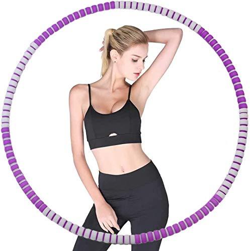 Alduos Hoola Hoop Reifen für Erwachsene, 6 Teiliger, Abnehmbarer Hula Hoop Reifen von 1,2-4.0kg für schmerzempfindliche und Profis, hullahub Reifen für Abnehmen, Fitness, Massage (Purple)