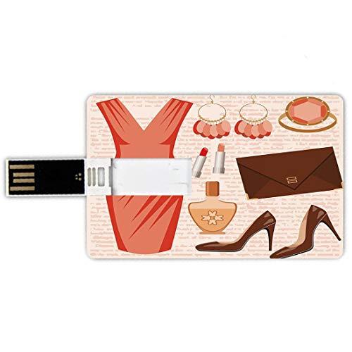 USB-Sticks 8GB Kreditkartenform Absätze und Kleider Memory Stick-Bankkartenstil Accessoires Fashion...