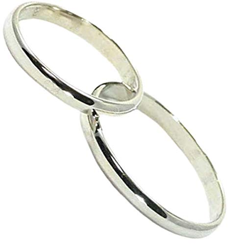 [京都ジュエリー工房] 結婚指輪 マリッジリング 甲丸 2.2mm幅 プラチナ pt900 ペアリング ブライダルリング 2本セット ハンドメイド PT900 mari-kou2hon-cyu メンズ13号・レディース11号