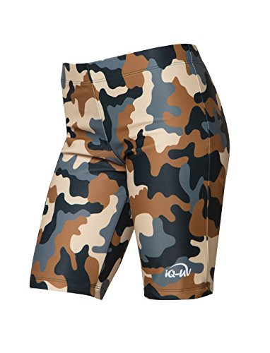 iQ-UV Jungen UV Shorts Kids Colorido Badehose, Olive, 140/146