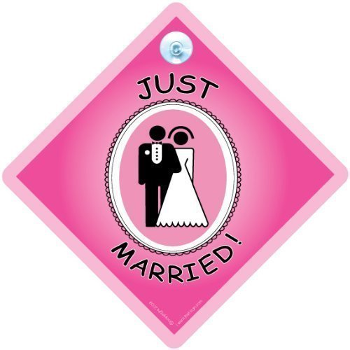 Panneau de voiture « Just Married », « Just Married », « Just Married », « Bride to Be », « Baby on Board », « Just Married »