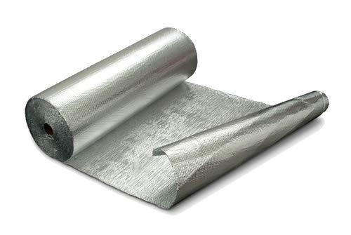 Optimer System - Aislamiento Termico Aluminio Reflexivo multicapa de burbujas de aire - Rollo aislante termico de 42 m², para techo, pared y fachada - RF2
